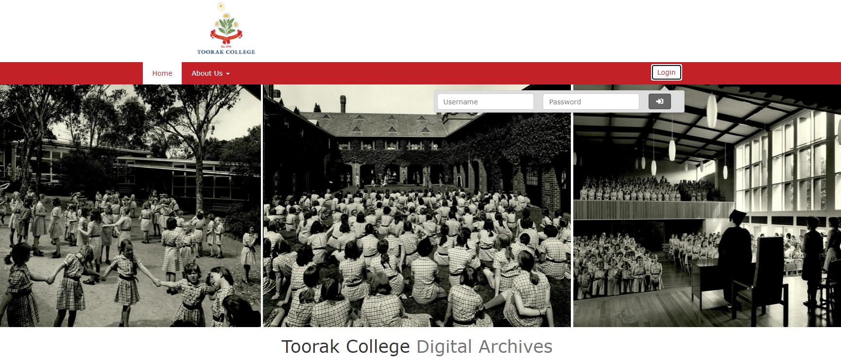 Archives Website Screenshot 2