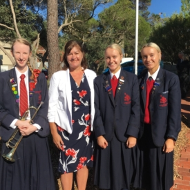 Charlotte Chloe Holly And Diane At The Mount Eliza Anzac Day Service