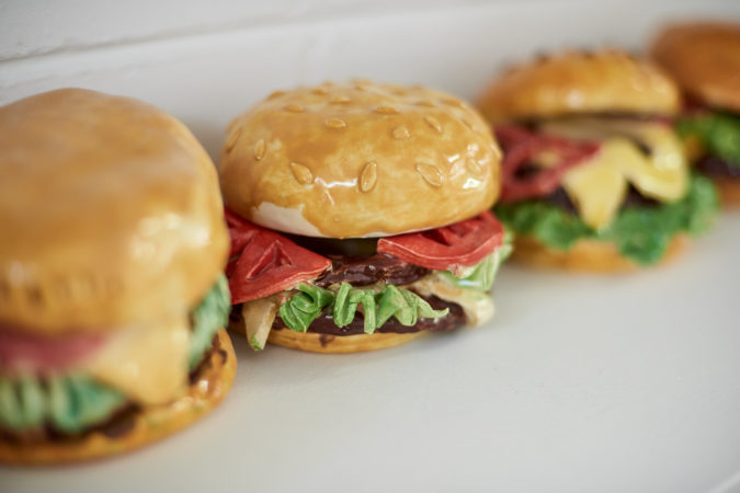 Artwork Pottery Burgers