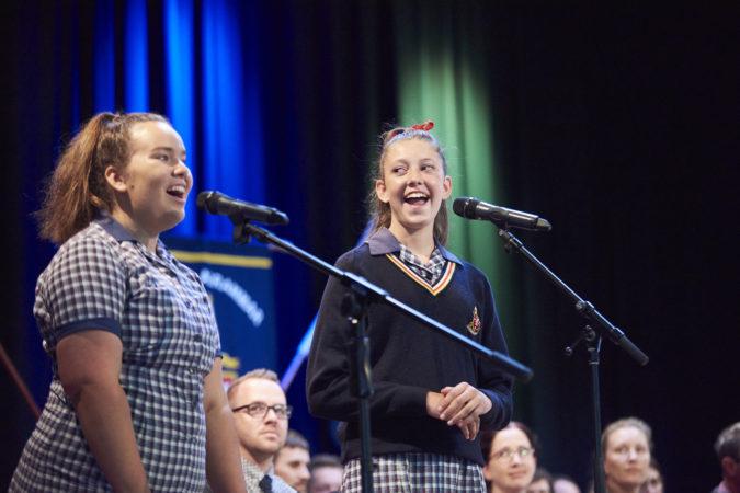 Girls Singing Assembly