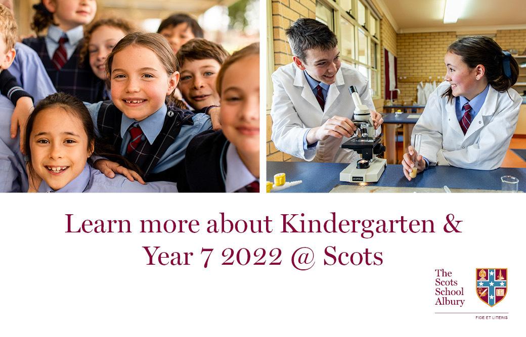 Kindergarten & Year 7 2022
