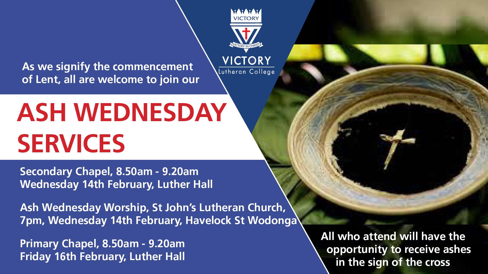 2018 Ash Wednesday Service