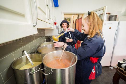 Rj Service Week Soup Day 1