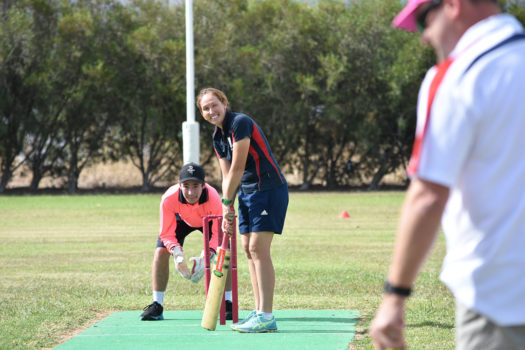 Vlc Kareena Musgrave Lines Up With Wicket Keeper Jacob Kennedy