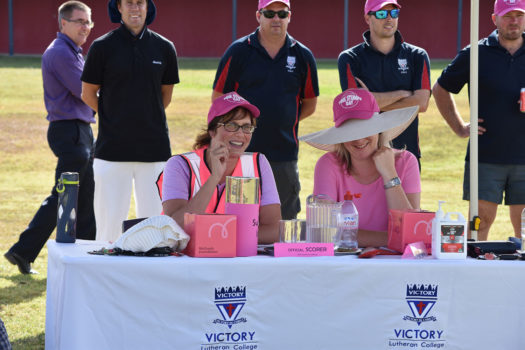 Vlc Scorers Marg Moore And Sarah Rae Keep A Close Eye On The Innings