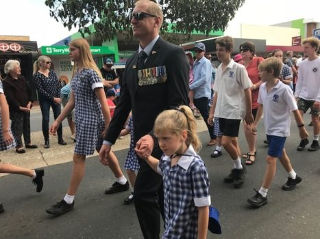 Anzac Day Wodonga March 12