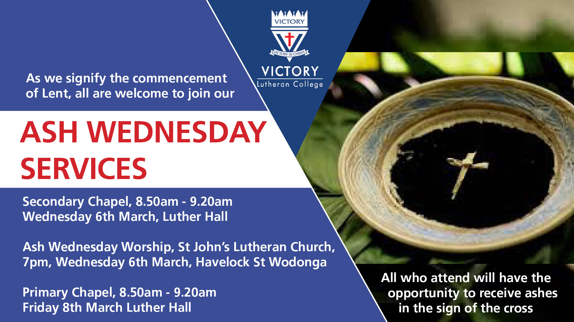2019 Ash Wednesday Service