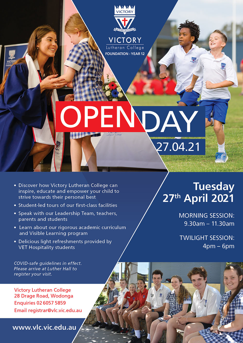 2021 Open Day Postcard Invite A4