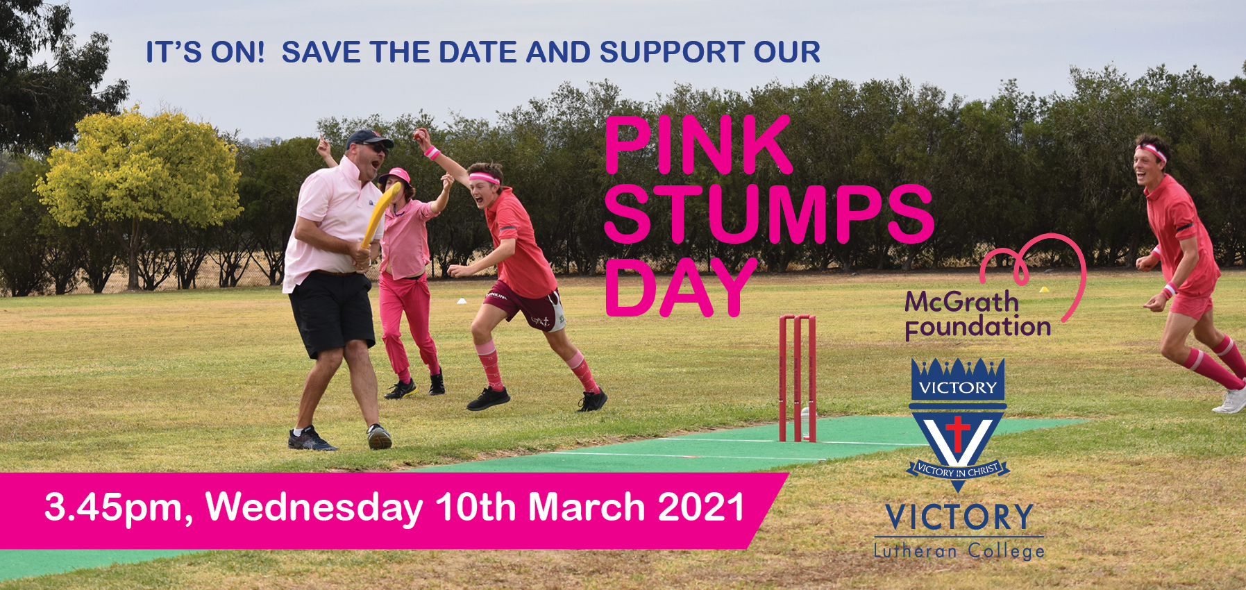 2021 Pink Stumps Day Vlc Clickview