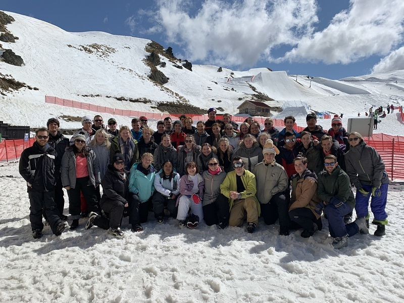WestMAC Ski Trip 2019 staff and students