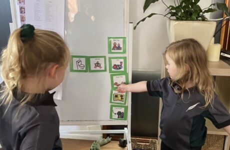 Visual Schedule And Children Engaging With The Schedule 1