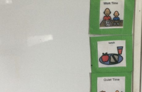 Visual Schedule And Children Engaging With The Schedule